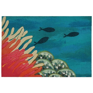 TransOcean Illusions 3292/17 Reef & Fish Coral Rug